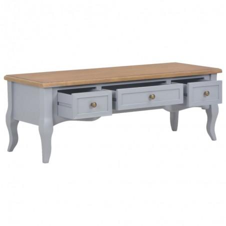 meuble tv gris en bois pieds baroques 100x35x35cm