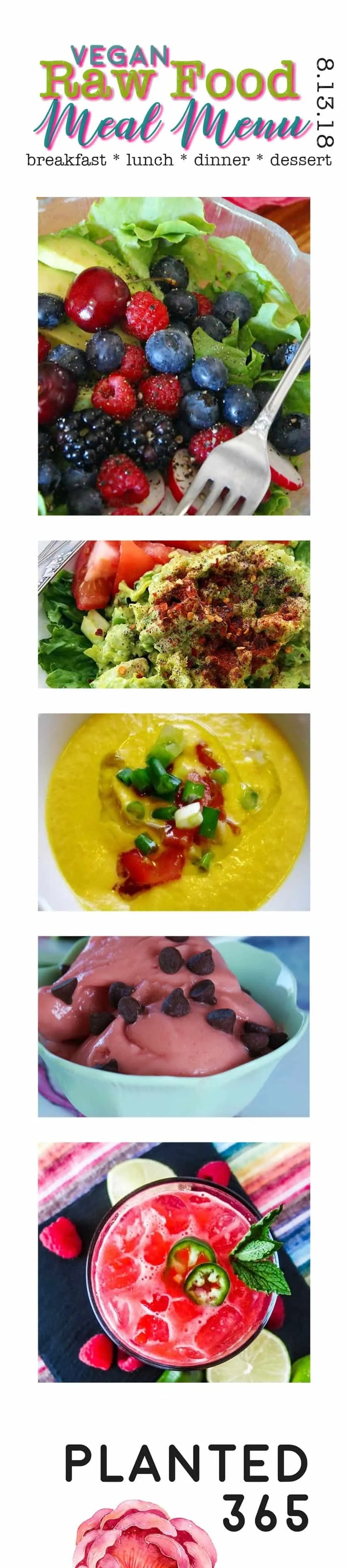 Vegan meal menu 8132018 raw food plant based recipes planted365 raw food meal menu 81318 raw vegan plant based recipes planted365 planted forumfinder Images