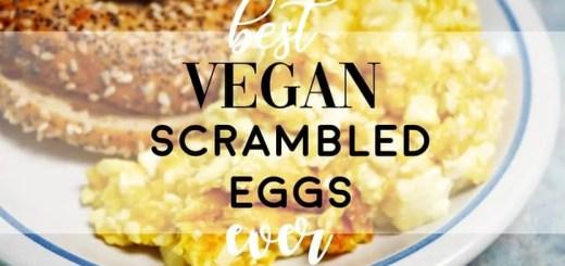 Best Vegan Scrambled Eggs Better Than Just Eggs Make it at Home from Planted365.com Vegan and Plant-Based Recipe Video #vegan #veganeggs #justegg #veganrecipe #veganscrambledeggs #plantbasedeggs