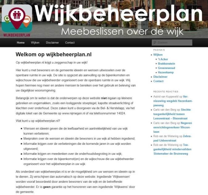 Wijkbeheerplan punt NL header