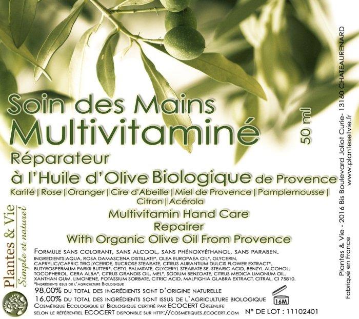 Soin des mains Multi-vitaminé Réparateur