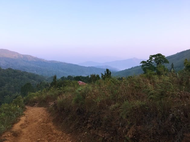 Early morning scenes near Kudremukh Forest office - Kudremukh Trek Experience