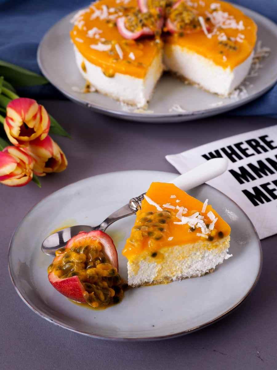 Gut gegen Fernweh:Hawaii inspired Mango-Passionfruit Cake