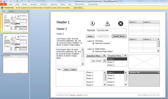 Plantillas Wireframe Para Microsoft PowerPoint