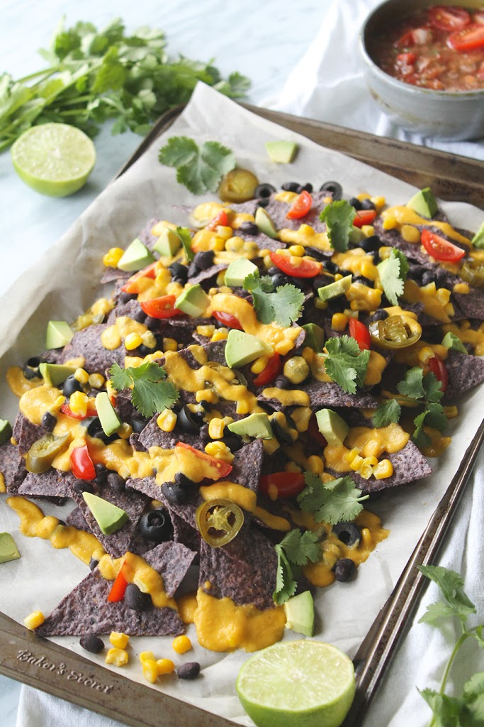 Loaded Veggie Nachos With Plant Based Cheese Sauce | Plantily