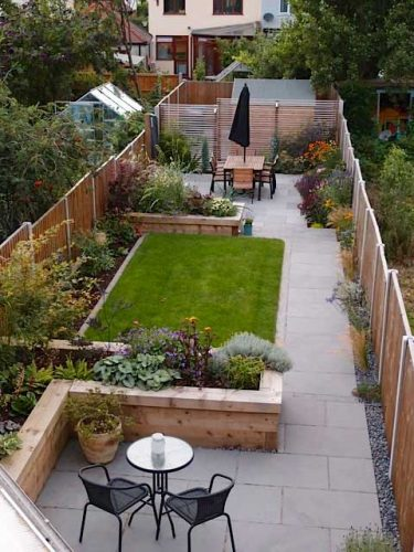 Long, narrow gardens and other awkward shapes - Gardening ... on Narrow Backyard Landscaping Ideas  id=99499