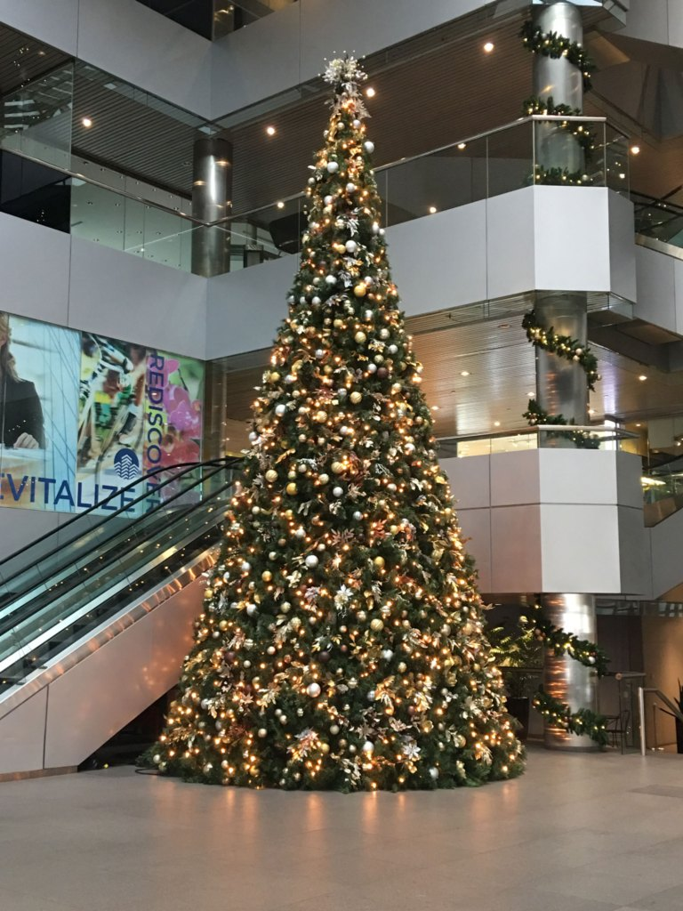 Christmas Tree at One Oxford Center