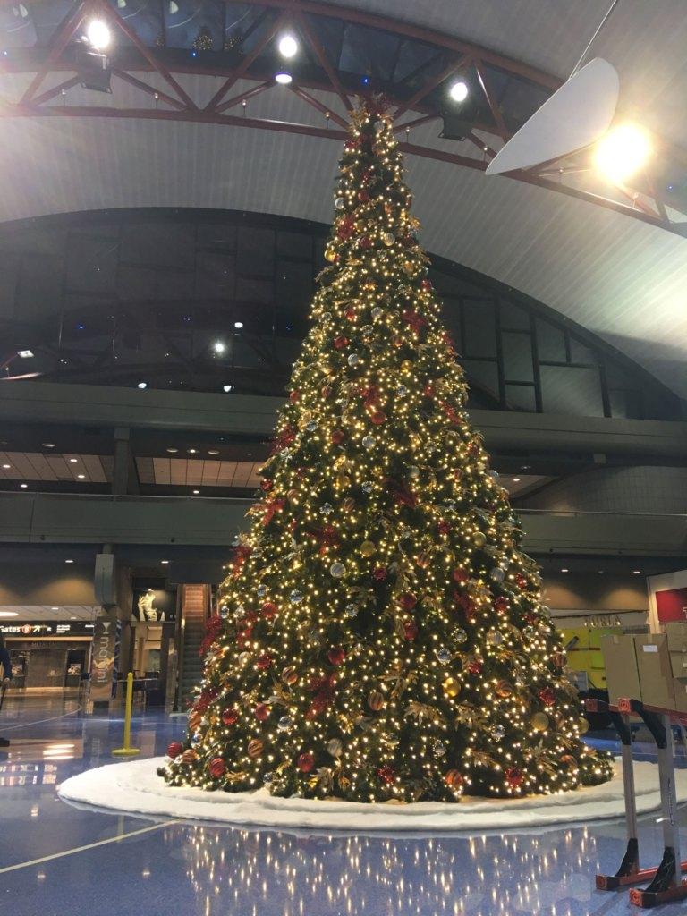 Christmas Tree at Pittsburgh Airport