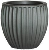 grey stone plant container