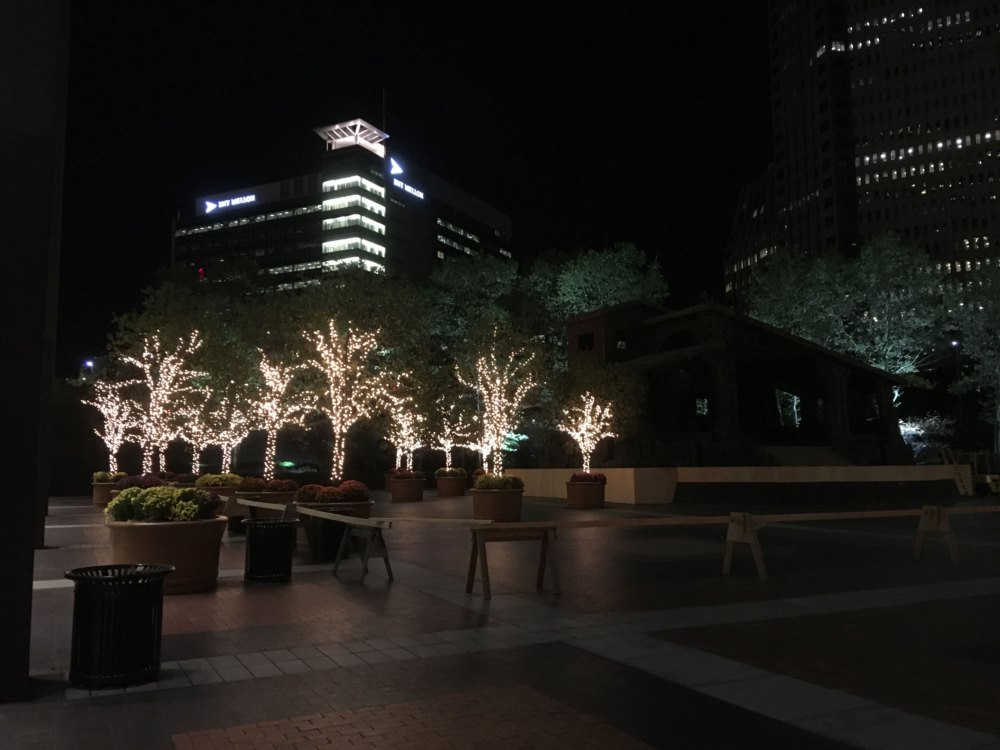 Steel Tower outdoor christmas trees