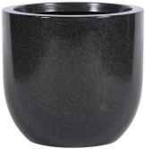 dark stone planter