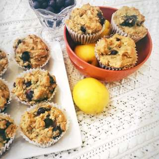 Lemon Blueberry Muffins (Vegan & Gluten Free)