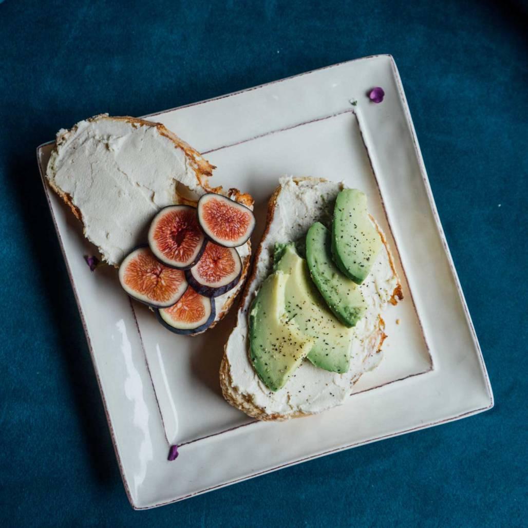 Vegan Cheese on toast with Avacado