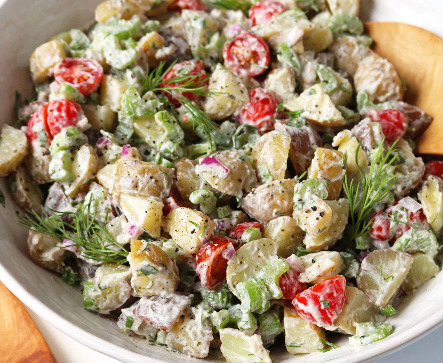 Easy Vegan Potato Salad Recipe – Garlic & Herb