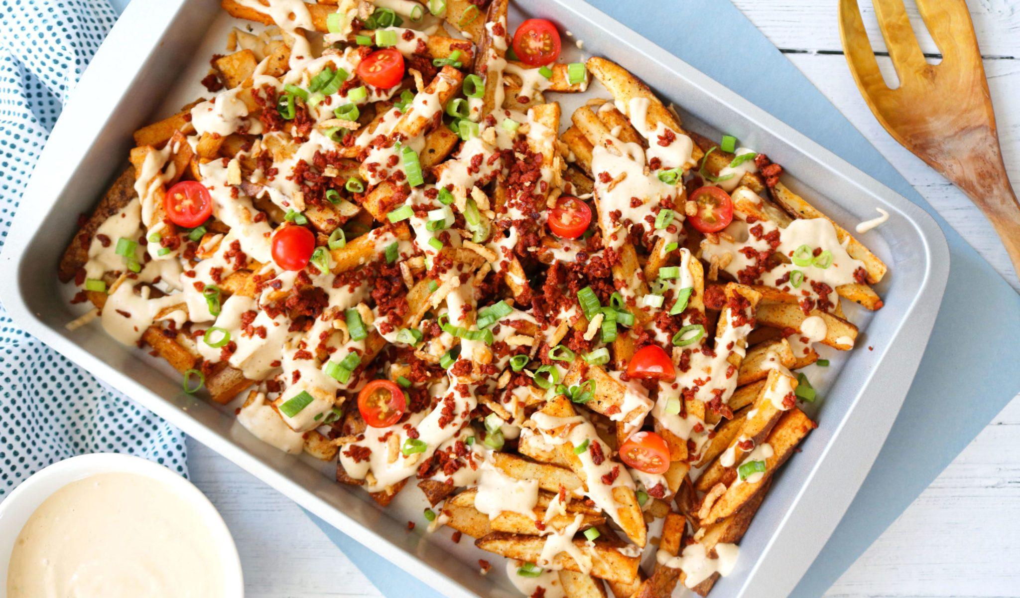Loaded Vegan Cheese Fries Recipe