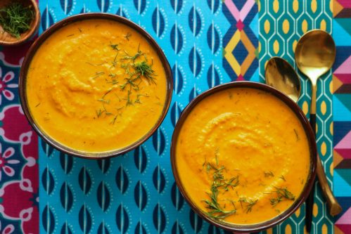Roasted carrot dill soup