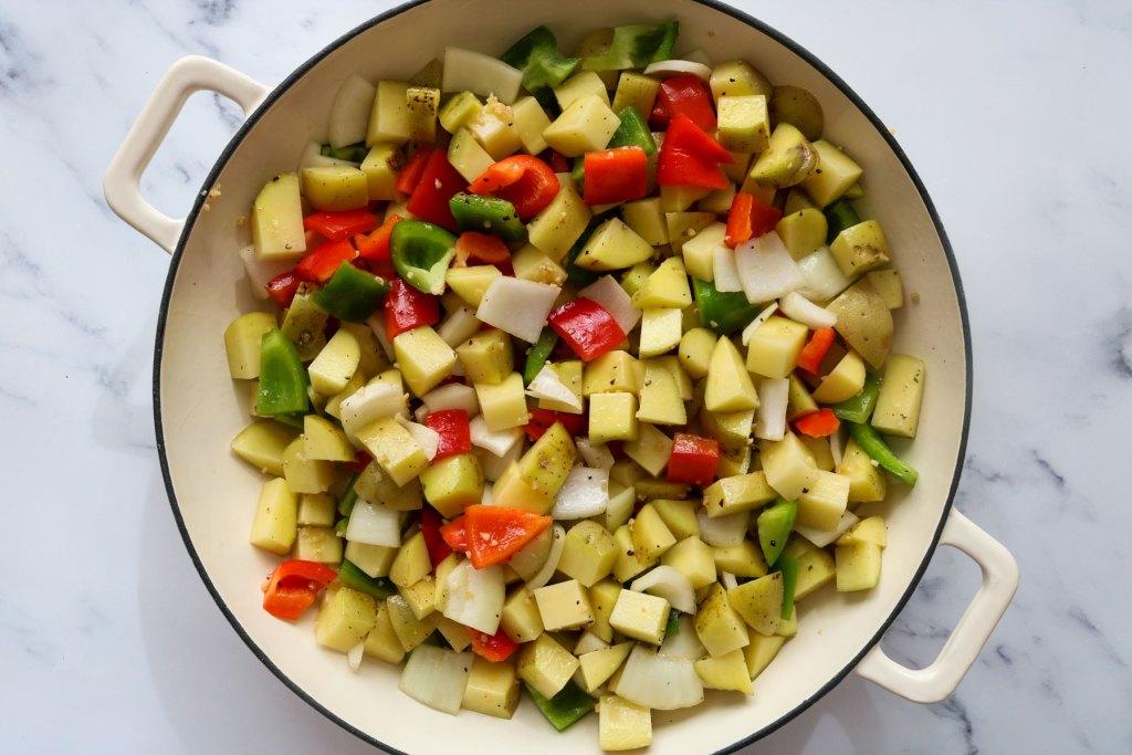 sriracha cheddar & chive breakfast potatoes