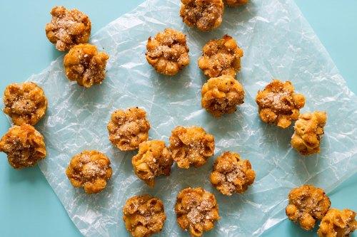 truffle vegan mac and cheese bites