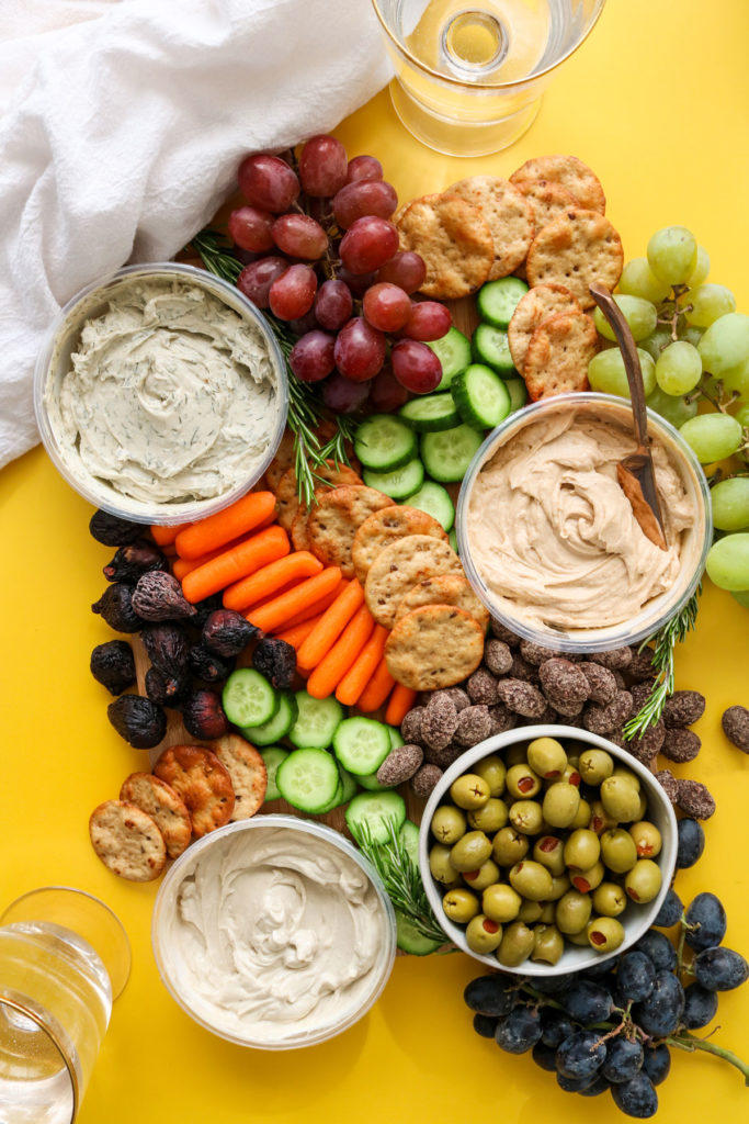 holiday party vegan cheese board
