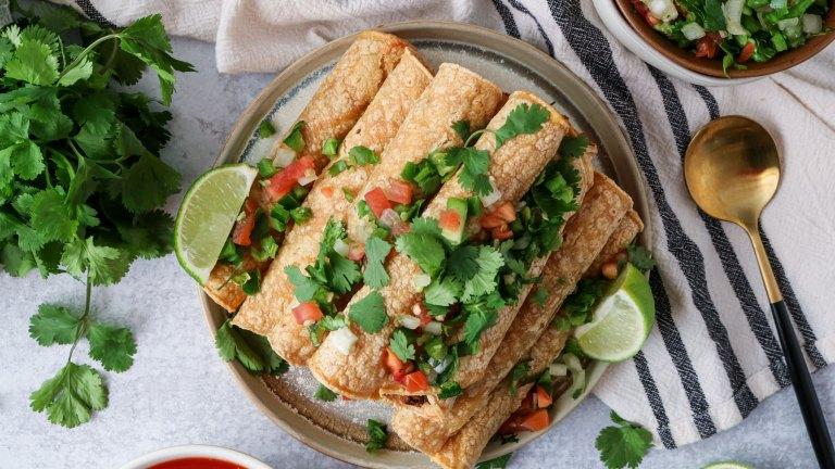 Spicy Black Bean Vegan Taquitos Recipe