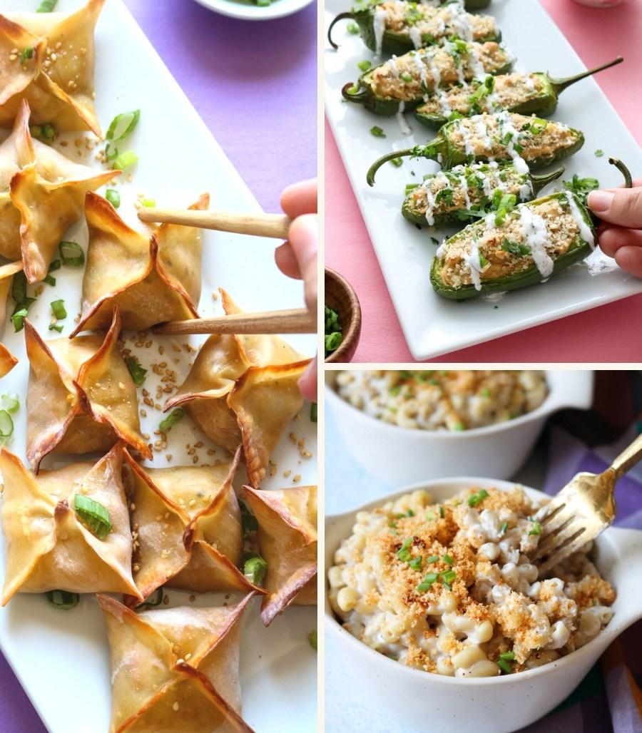plant perks vegan recipes collage