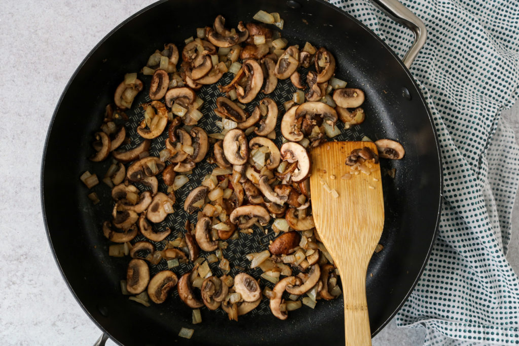 smoky vegan mushroom stroganoff