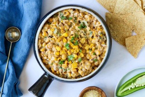vegan elote corn dip