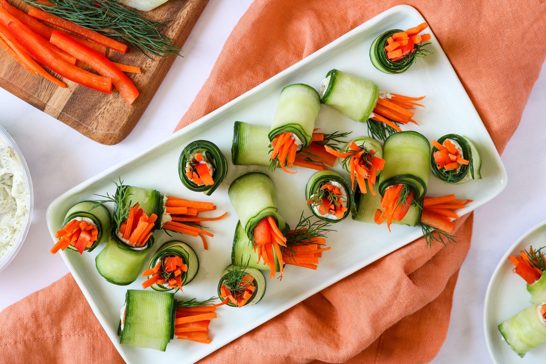Veggie & Dill Cucumber Roll-Ups Recipe