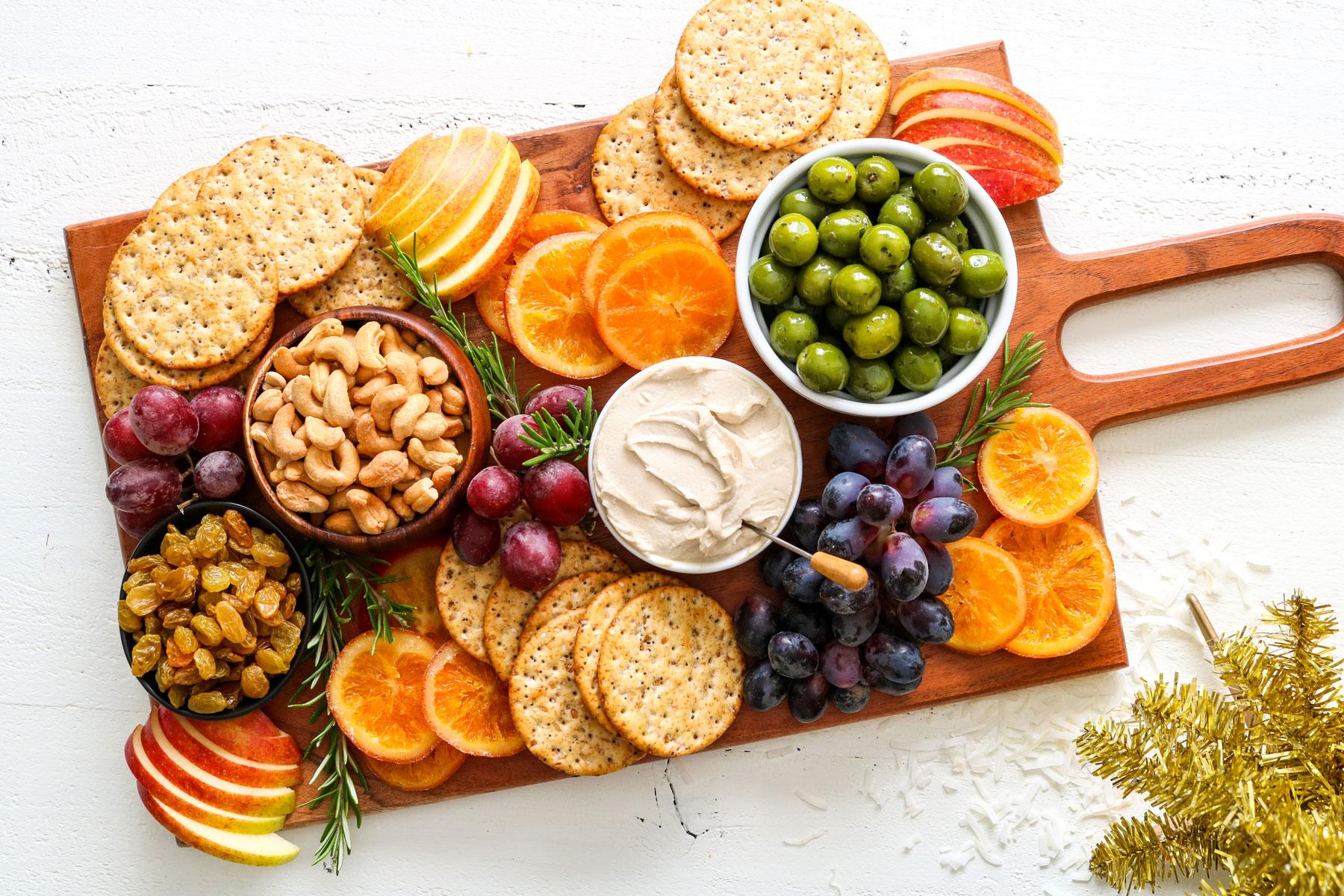 Vegan Holiday Cheese Board Recipe