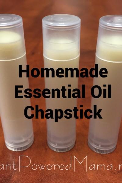 Homemade Essential Oil Chapstick {peppermint}