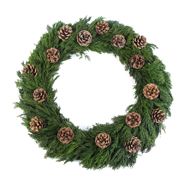 Preserved Wreath with Cones