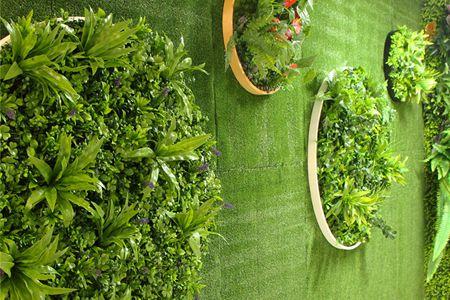 artificial green garden wall disk