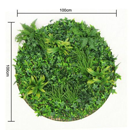 size of artificial garden wall disk