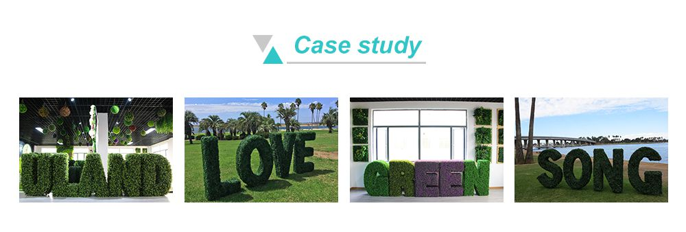 Case Study of Faux Topiary Letters