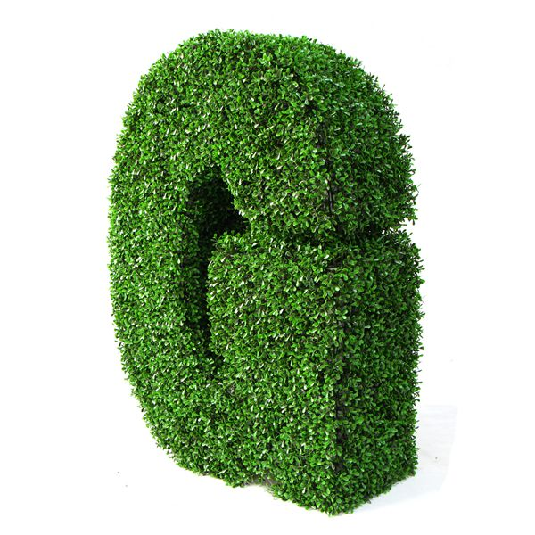 bespoke artificial topiary letter