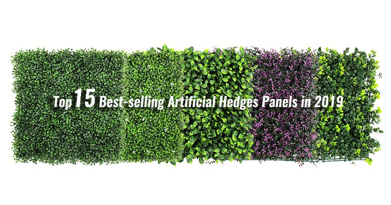 top 15 artificial hedges panels