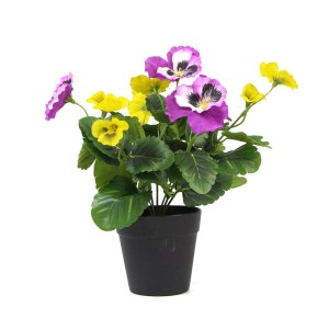 Faux Potted Plants with Pansy