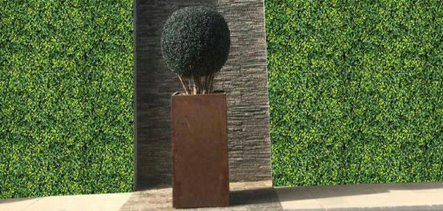 A013 artificial boxwood hedging landscape