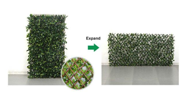 expand grid structure of artificial willow fence
