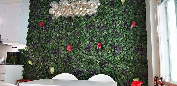 indoor artificial plants wall for decor