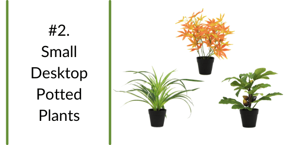 trendy small artificial potted plants