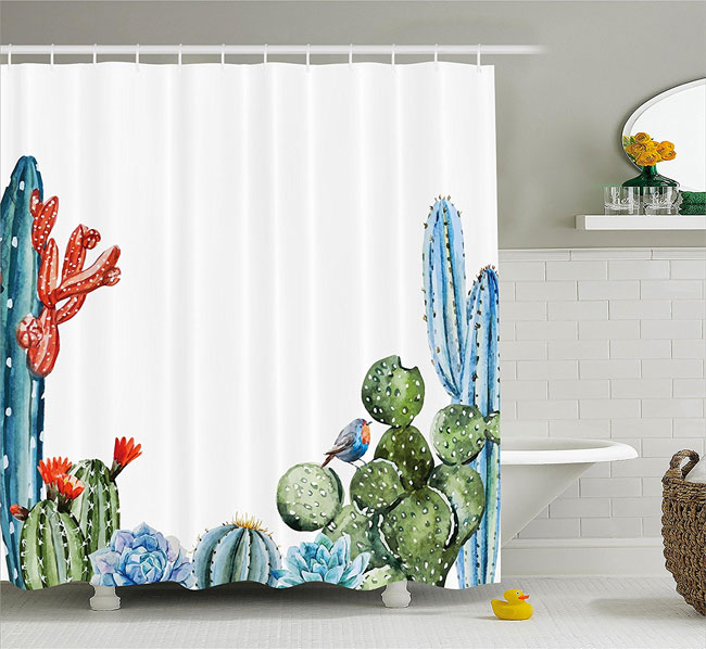 the best cactus shower curtain for
