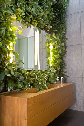 bathroom with vertical garden The Easy Way to Add a Living Wall in a Bathroom