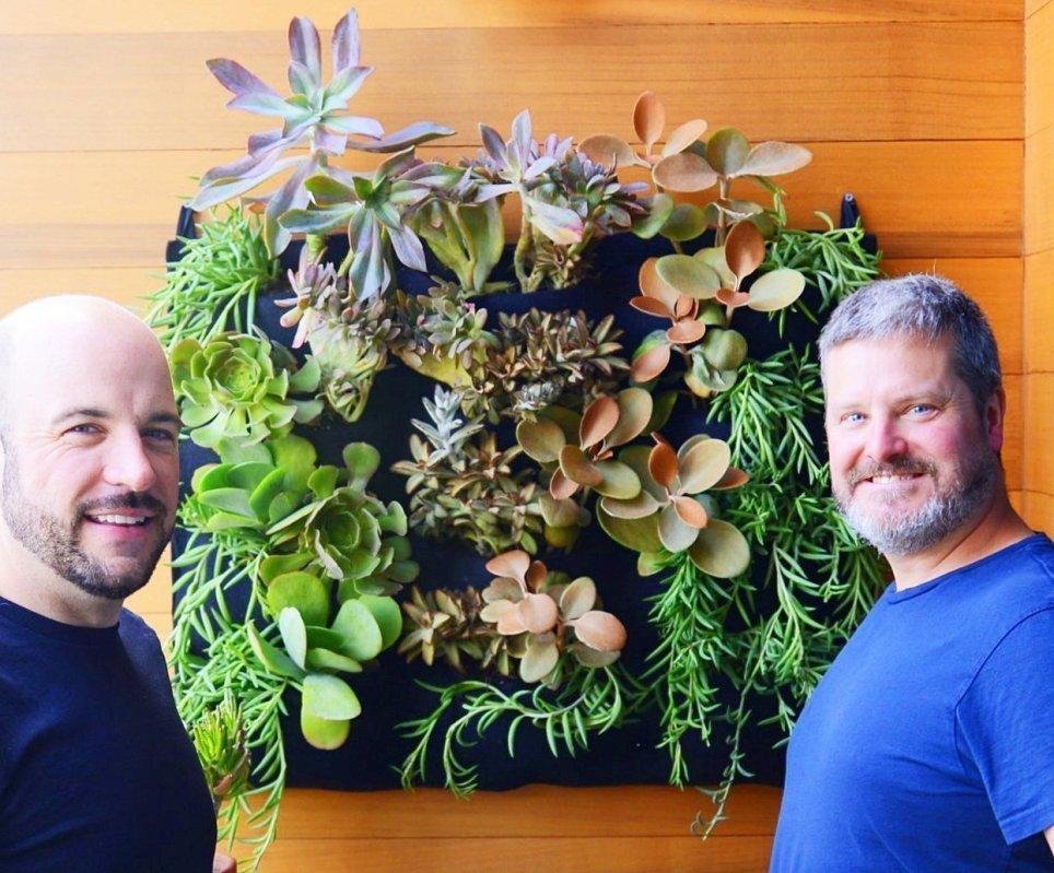 Florafelt 12-pocket vertical garden by Chris and Gary in San Francisco