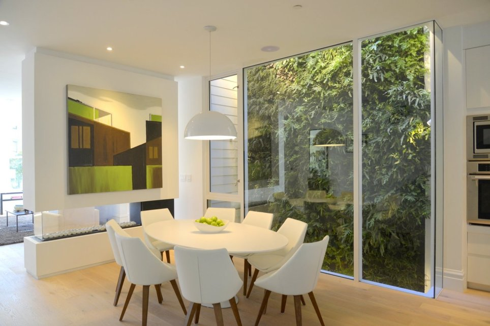 Florafelt Vertical Garden by Joanna Wong and Durkin Inc. for a luxury remodel in San Francisco.