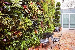 Florafelt Vertical Garden Planters Living Wall by Jeff Allis of Tru Vine Design for Chrome Hearts Miami