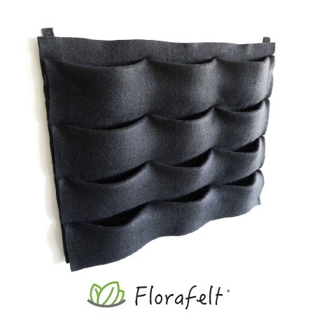 Florafelt® 12-Pocket Vertical Garden Planter. Made in the USA from recycled materials. US Patent 8141294.