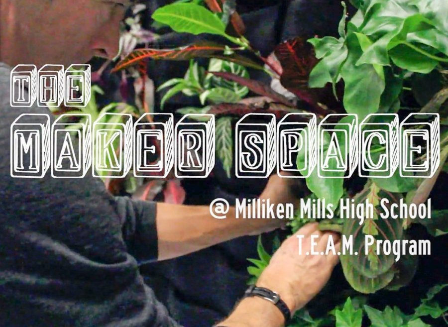 T.E.A.M., an Alternative Education program at Milliken Mills HS in the Greater Toronto Area, installs a Maker Space in their school library featuring a Florafelt vertical garden.