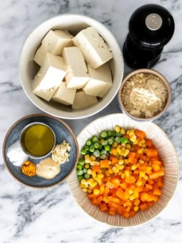 ingredientes muffin de legumes