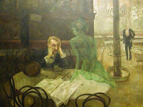 Viktor Oliva 1901 Absinthe Drinker